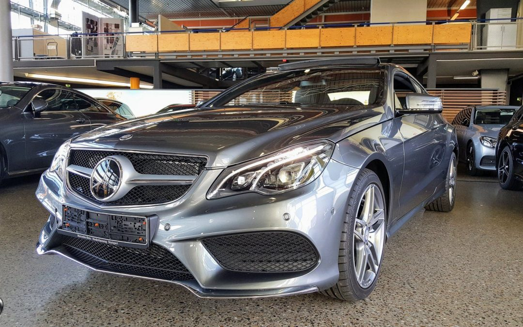 Dovoz automobilu Mercedes-Benz E 500 Coupé W212 4,6 V8 twin-turbo, 408 koní, 2/2017, 15.000 km